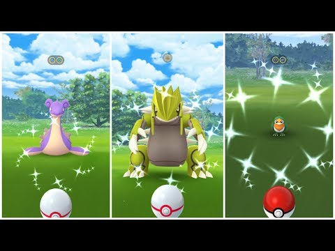 Pokemon Go Shiny Compilation #3 Groudon Shiny 100% !