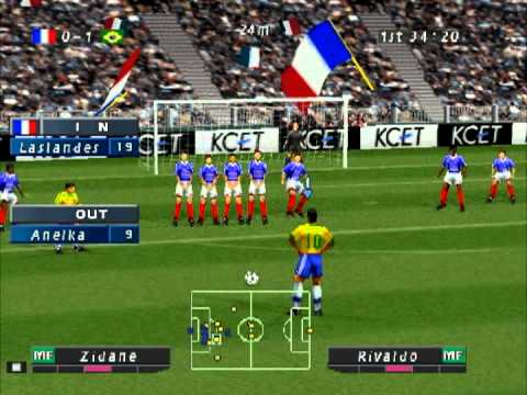 Iss Pro Evolution Ps1 Gameplay France Vs Brazil Youtube