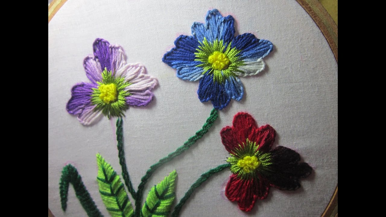 Hand Embroidery Designs | Hand stitches tutorial | Stitch and Flower ...