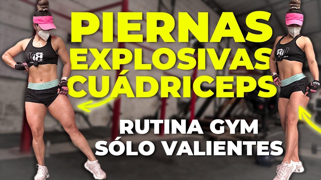 RUTINA PIERNAS EXPLOSIVAS en GYM - Desarrollar Cuadriceps en Gym