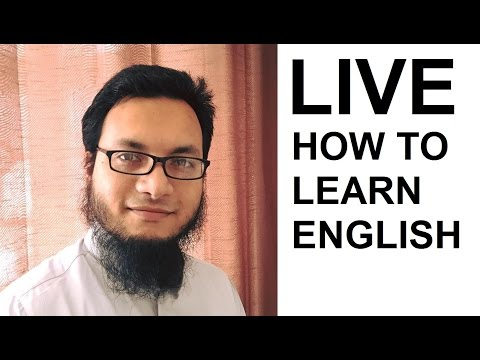 LIVE : How To Learn / Improve Your English