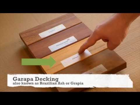 comparing hardwood decking woods youtube. Black Bedroom Furniture Sets. Home Design Ideas
