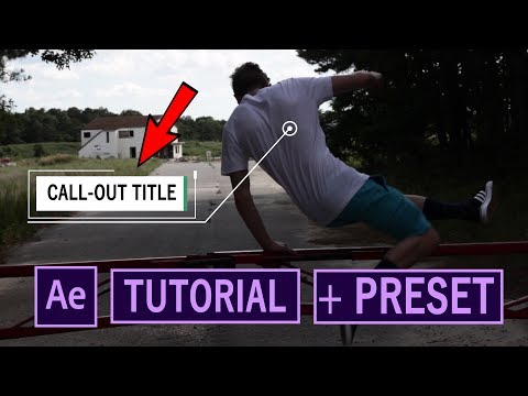 How to Make ADVANCED Call-out Titles+Preset! // After Effects Tutorial!