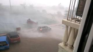 Viral video. A car blown away by strong wind in chennai