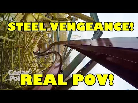 Steel Vengeance Roller Coaster *REAL*  POV! Front Seat! Cedar Point 2018