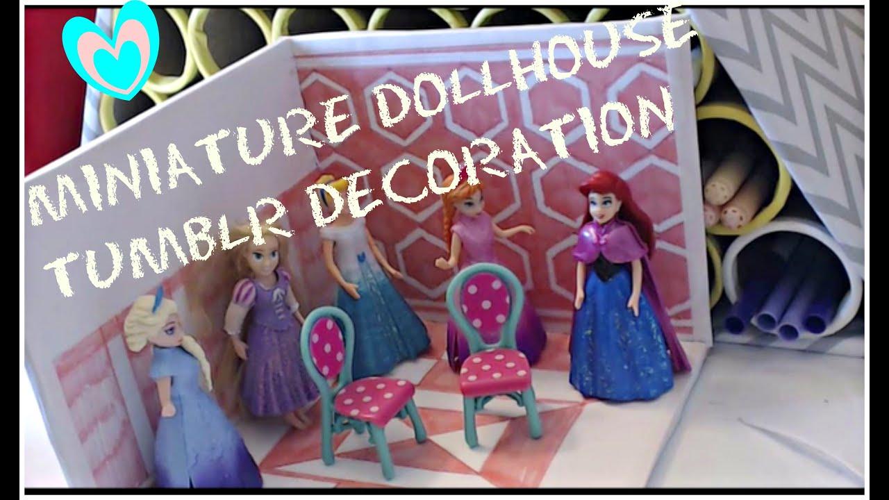 Miniature Disney Princess Tumblr Room Deco 2 Youtube