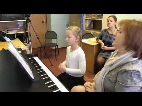 Открытый урок по фортепиано в музыкальной школе видео