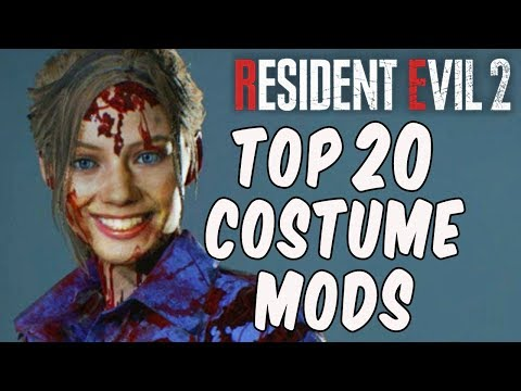 Resident Evil 2 - TOP 20 COSTUME MODS!