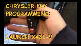 Dodge Ram Key Programming Using Launch X431-V