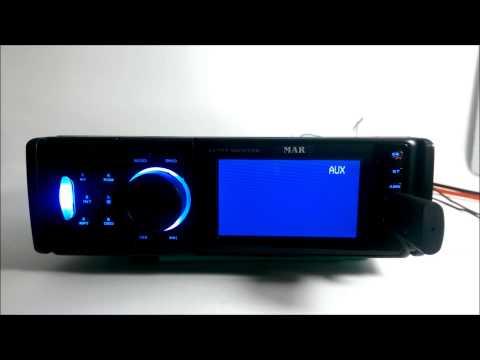 Autoradio con MP3, video y Bluetooth.