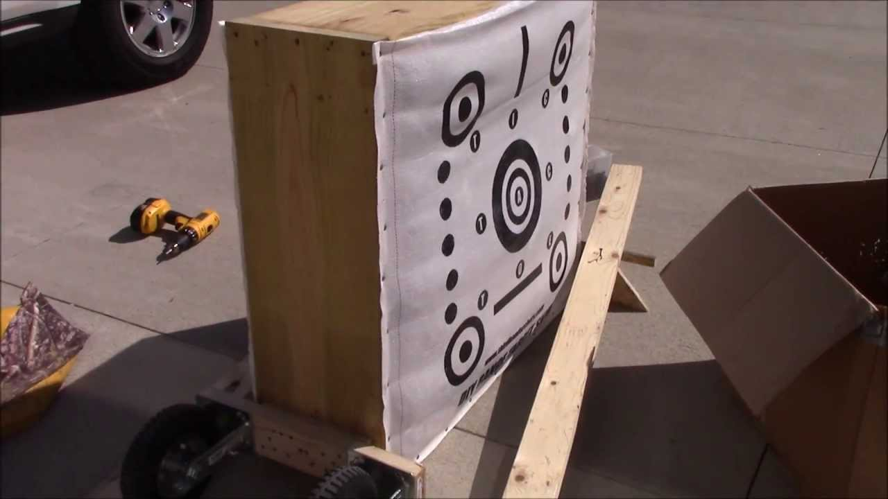 How To Make A Portable Third Hand Archery Target Youtube