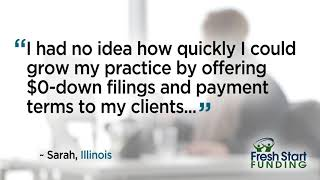 Grow my practice by offering $0-down - Sarah, Illinois