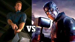 Avengers endgame all callbacks | on your left, cap lifts mjolnir, i am ironman, cap and peggy dance