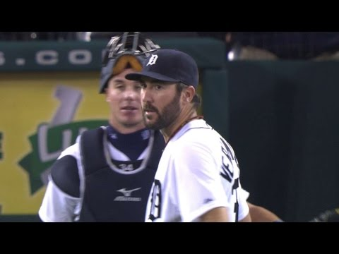 LAA@DET: Verlander pitches no-hitter into the 9th