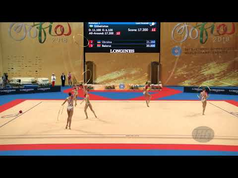 Russian Federation (RUS) - 2018 Rhythmic Worlds, Sofia (BUL) - Qualifications 5 Hoops