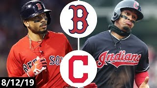 Boston Red Sox vs Cleveland Indians Highlights | August 12, 2019 (2019 MLB Season)