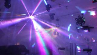 Home Disco Lights synchronized to Music 4, Scanners, Moving Heads, Lasers, DMX controlled
