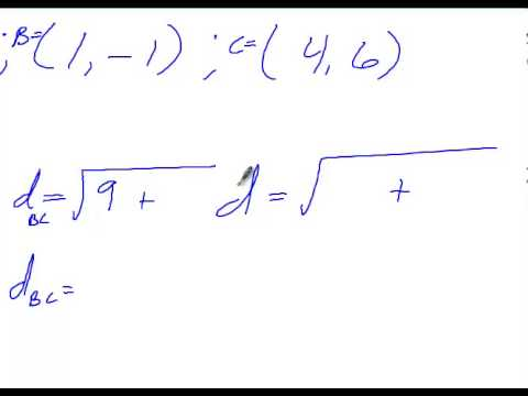 homework 2 distance and midpoint formulas