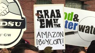Scores protest against new Amazon HQ in Queens, New York