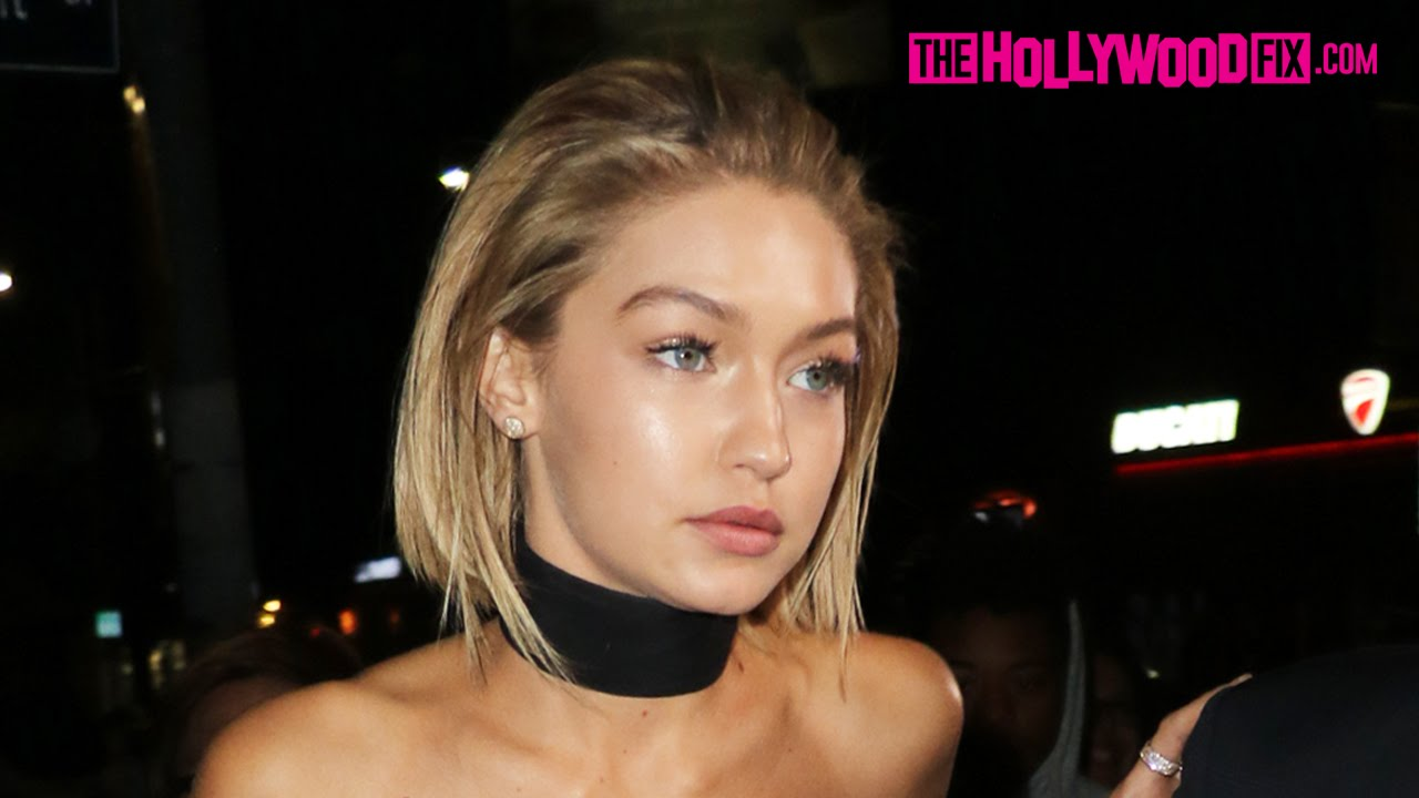 Gigi Hadid Shows Off Her Short Bob Hairstyle Leaving Justin Bieber S Ama After Party 11 22 15 Youtube