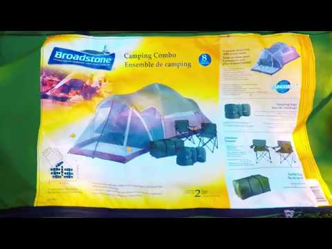 Walk-Through; Broadstone 8 Person Tent With Screen Entry Lounge  sc 1 st  YouTube & Walk-Through; Broadstone 8 Person Tent With Screen Entry Lounge ...
