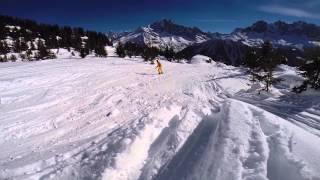 Snowboarding. Chamonix, Mont Blanc 2015. GoPro 3+