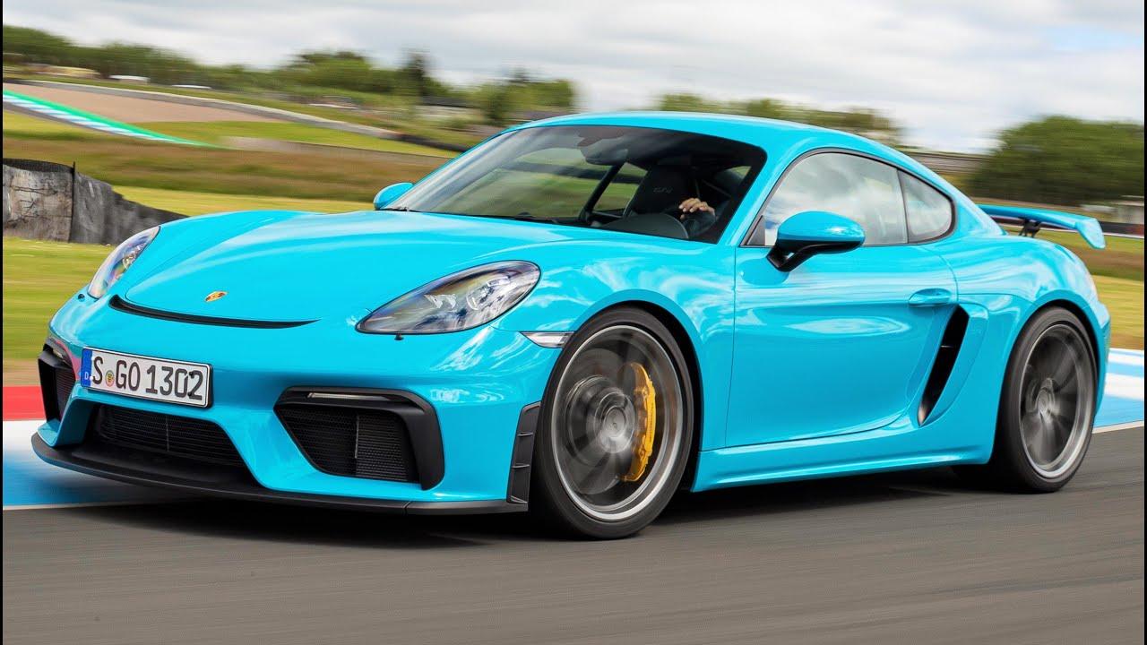 2020 Blue Porsche 718 Cayman GT4 , Pure Driver\u2019s Car