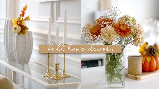 Fall Decorate With Me! Fall Home Tour - Decor & Styling