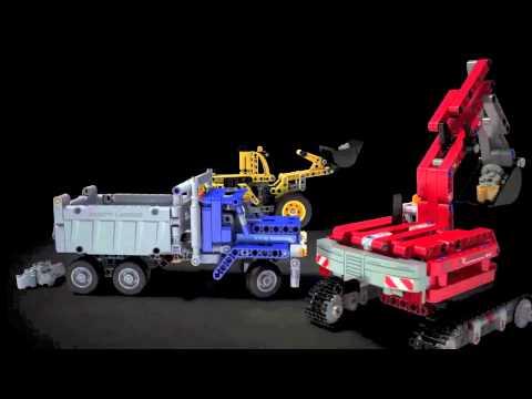 Lego Technic   42023   Construction Crew   Lego 3D Review ...