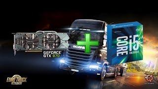 GALAX GTX 970 EX OC + i5 6600K Euro Truck Simulator 2 1080p FPS Test
