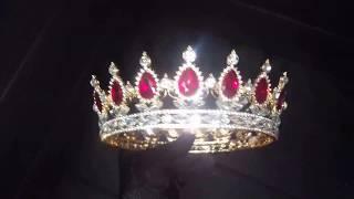 Свадебная корона полноразмерная Рубин 5 См