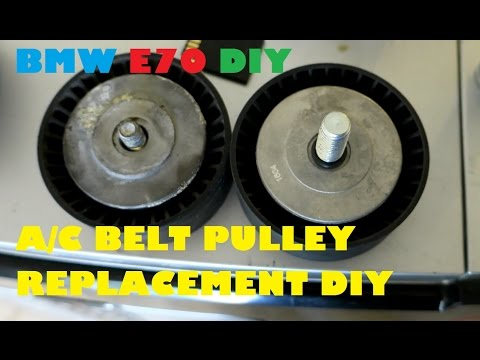 BMW E70 X5 4.8i A/C Belt Tensioner Pulley Replacement DIY for $9.00
