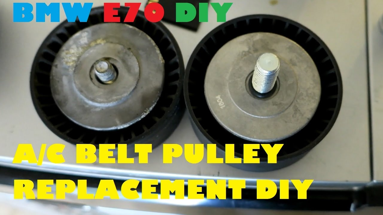 hight resolution of bmw e70 x5 4 8i a c belt tensioner pulley replacement diy for 9 00