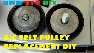 BMW E70 X5 4.8i A\/C Belt Tensioner Pulley Replacement DIY for $9.00
