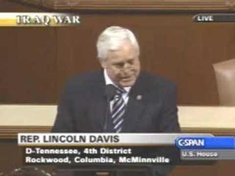 Iraq Troop Surge Debate : Lincoln Davis - Anti Surge
