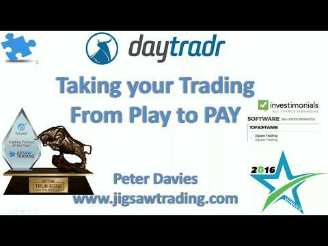 Taking your trading from play to PAY  |  Peter Davies  |  Jigsaw Trading