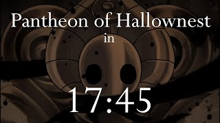 Hollow Knight Speedrun - Pantheon of Hallownest in 17:45
