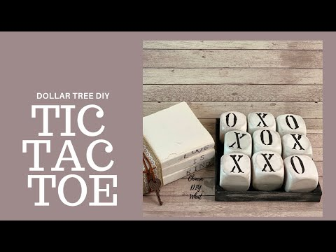 Dollar Tree| Farmhouse DIY Tic Tac Toe