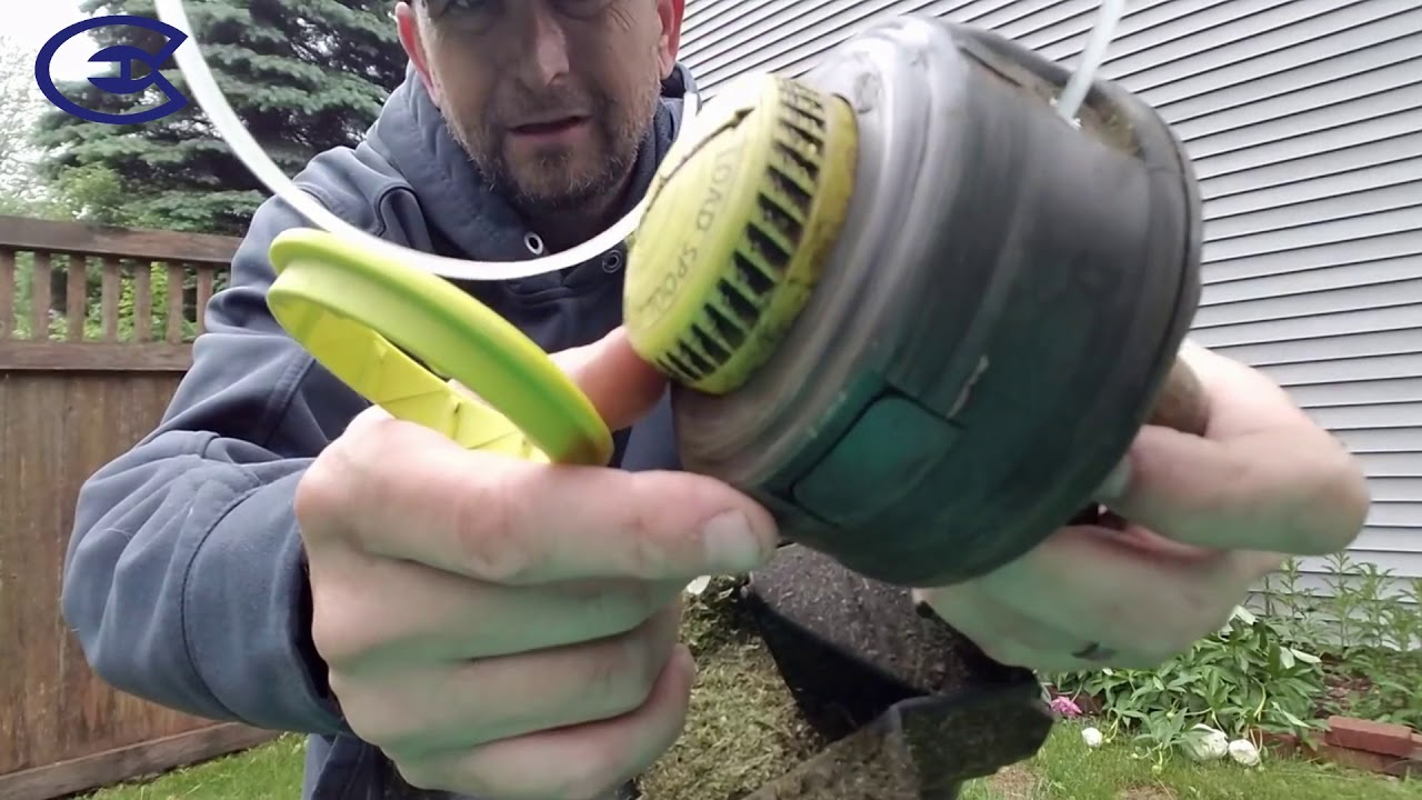 How to ReString, ReSpool or ReLine Ryobi 18 Volt brushless weed trimmer  weed wacker