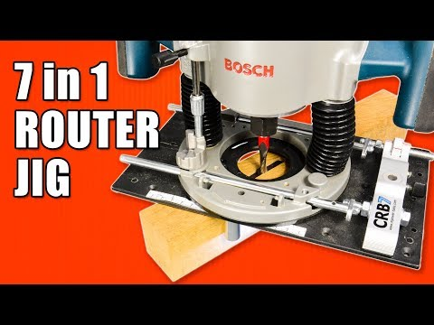 7 in 1 Router Jig / M.POWER CRB7 MK3 Router Base Review