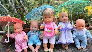 Baby Doll Rain Rain Away Learn Colors Umbrella - Rain rain away song