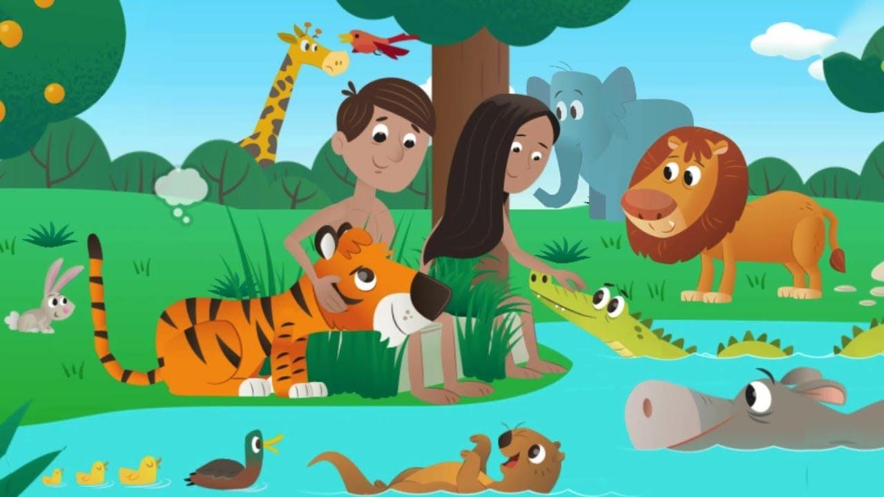 Bíblia para Crianças - No Princípio - A Criação do Mundo História Infantil