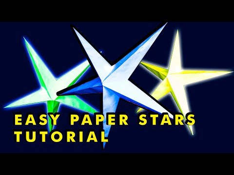 Easy paper stars tutorial | crafts idea with paper