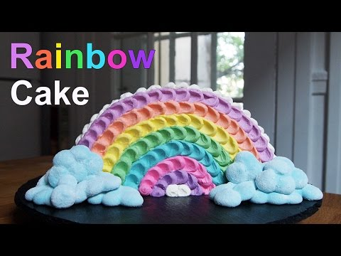 recette rainbow cake g teau arc en ciel youtube. Black Bedroom Furniture Sets. Home Design Ideas