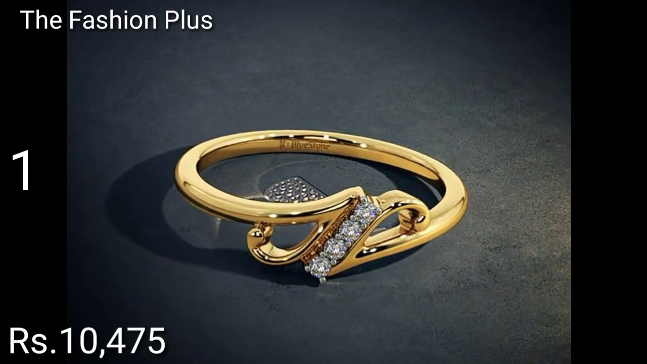 Gold Rings Designs With Price From Bluestone - YouTube