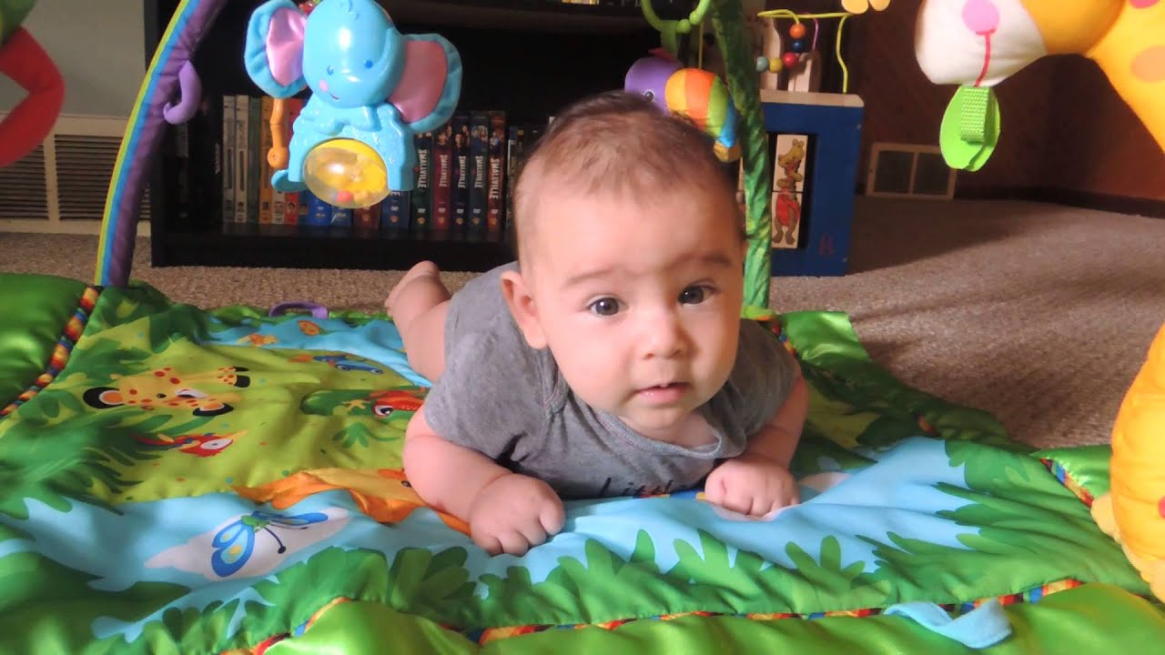 Rafi 3 month old Tummy Time