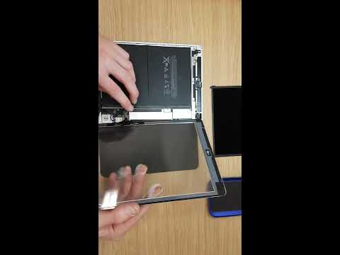 How to clean glue from lcd Apple Ipad Air by itconsalting.lv Assemble and test touchscreen