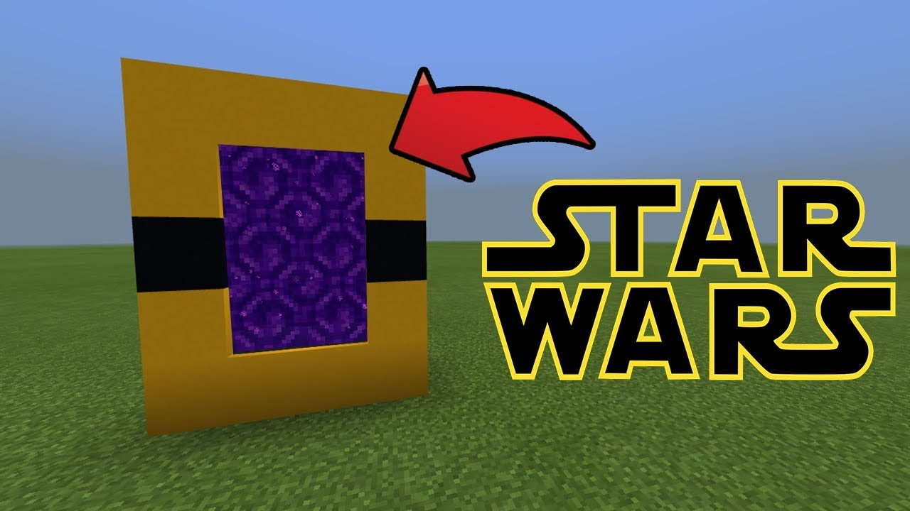 how to make a star wars ship in minecraft pe