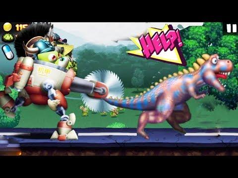 Zombie Tsunami Max Level 197 - Mecha Robot Zombie Vs Dinosaurs