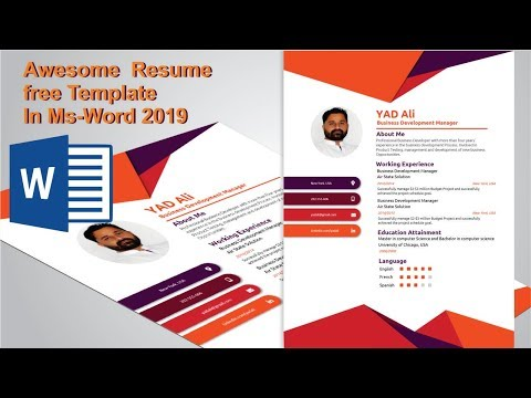 How to Create awesome resume template in ms word 2019